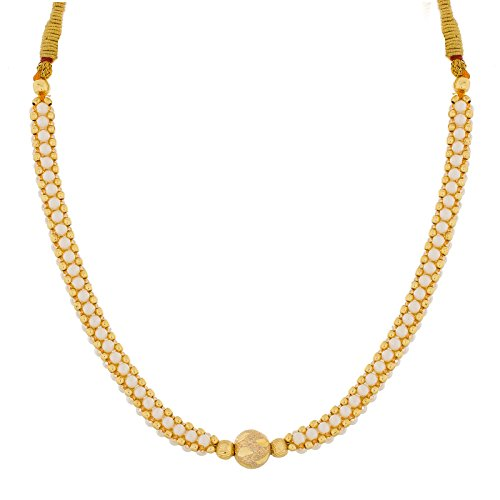 The Luxor Designer Gold Plated Pearl Studed Necklace Set for Women  available at amazon for Rs.199