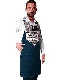 Fratelli ditalia Grembiule paravanti uomo divisa cameriere ristorante sala  bar bistrot enoteca vineria pub made in 4574ba48abae