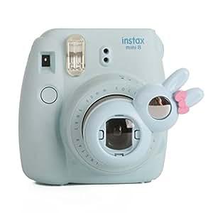 Woodmin Coniglio Ancora Close Up selfie Lense Für Fuji Mini 7s 8 Kamera (blu)