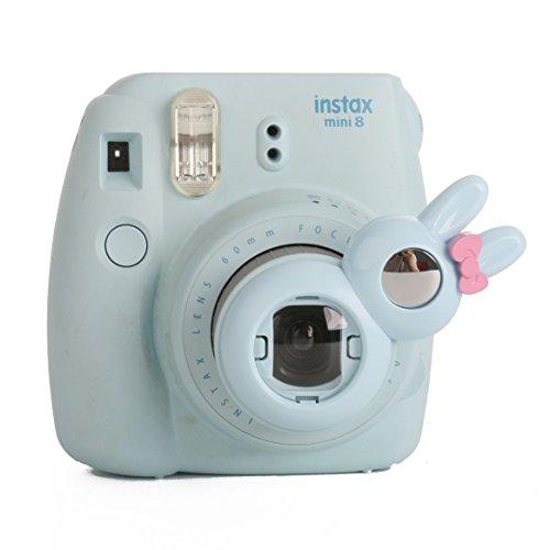 [Fujifilm Instax Mini 8 Selfie Linse] WOODMIN Rabbit Stil Close Up Selfielinse Für Fuji Mini 8 8+ Mini 9 Mini 7s Mini KT Kamera (Blau) (Mini-leinwand-tasche Kollektion)