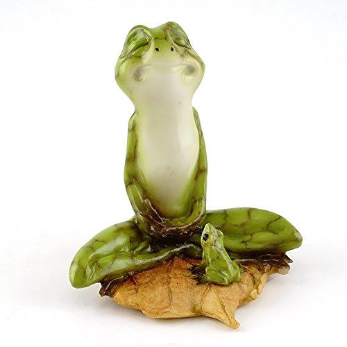 Top Collection Miniatur Fairy Garden & Terrarium Yoga Frosch in Meditation Lotus Pose, klein