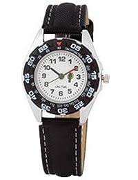 Cactus CAC-57-M01 - Reloj analógico de cuarzo infantil con correa de plástico, color negro