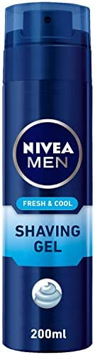 NIVEA MEN Fresh & Cool Shaving Gel, Mint Extracts, 2