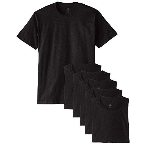 Hanes 5,2oz ComfortSoft-Baumwolle T-Shirt Schwarz