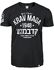 Krav Maga T-shirt. Thumbs Down. Military Krav Maga. Israel Combat System. Mixed Martial Arts. MMA T-shirt