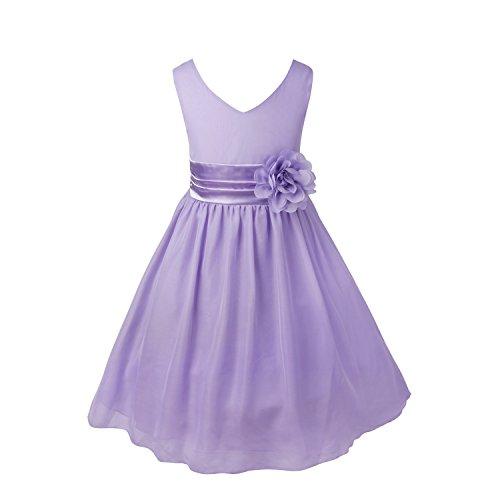 CHICTRY Mädchen Kleid Blumen-Mädchen Kinder Festlich Kinderkleid Hochzeit Kleid Partykleid...
