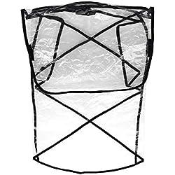 ENET Habillage Pluie pour Poussette Double Couverture Transparente Anti-Pluie Vent Universel Météo Bébé Poussette