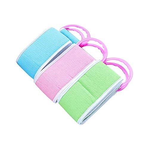 SODIAL Back-Pulling Asciugamano da Bagno Striato Asciugamano da Fango Stropicciato a Doppia Faccia Asciugamano da Bagno Forte E Non Stropicciabile Asciugamano con Spugna sul Retro