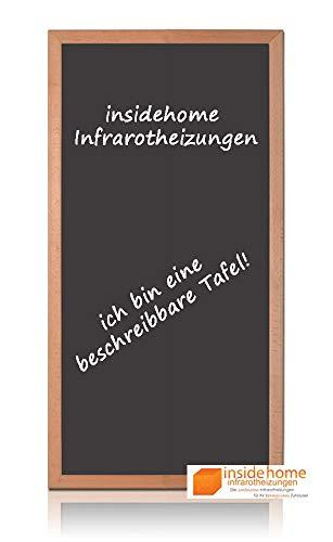 insidehome   Infrarotheizung Tafel CLASSIC   Vollholz - Rahmen Buche 30mm   hochwertige Glasheizung sandgestrahlt   deutscher Hersteller   700 Watt (120x60x2,5 cm)