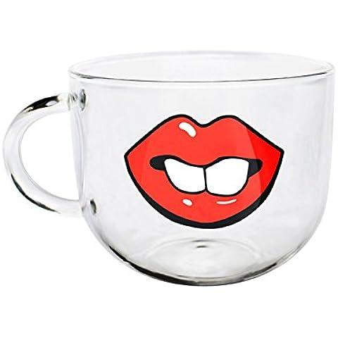 ArtSu–Tè e Caffè in Vetro Borosilicato originale, 500ml, Tazza Stampa