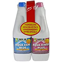 Thetford Aqua Kem Toilet Fluid and Rinse Duo Pack - 2 x 1.5 Litre - white 20