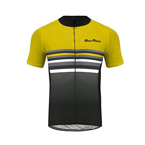Uglyfrog Designs Ciclismo a Maniche da Uomo, Maglia da Ciclismo con Maniche Corte, Camicia a Maniche Corte, Camicia per la Bicicletta, Maglietta da Ciclismo per Uomini