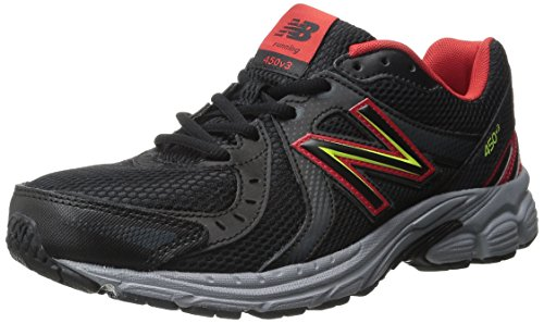 New Balance Men's M450V4 Running Shoe Black / Red