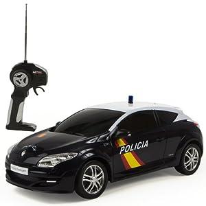 Mondo Toys - Renault Megane Policía Nacional Española, coche con radiocontrol 1:14 (63202)