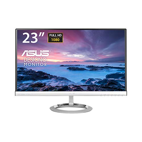 Asus MX239H Monitor 23', Full HD 1920x1080, IPS, B&O ICEpower speakers, Flicker Free, 250 cd/m2, Nero/Argento