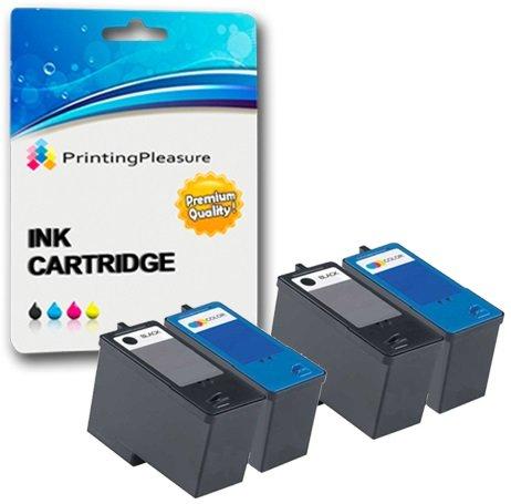 4 Tintenpatronen kompatibel zu Dell Serie 5 M4640 M4646 für Dell 922 924 942 944 946 962 964 - Schwarz/Color, hohe Kapazität -