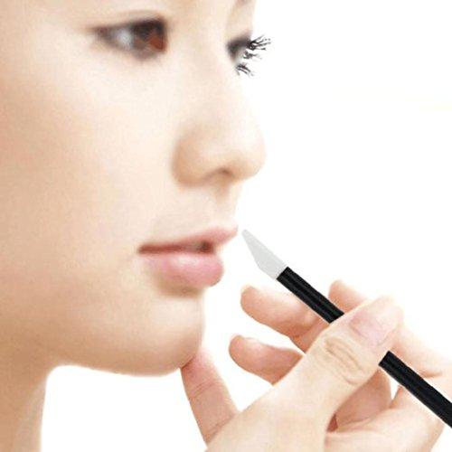 Malloom 100 pcs Desechable Maquillaje de labios Pincel Lápiz labial del lustre varitas aplicador Maquillaje Herramienta