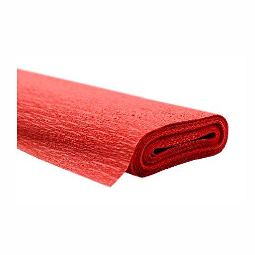 Krepppapier rot 50x250 cm Rolle färbt nicht ab bei kontakt mit Wasser