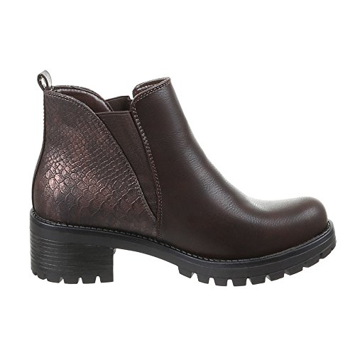Damen Schuhe, 55013-PA, STIEFELETTEN Braun