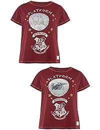 79ddc7f44bd6e Harry Potter Red Hogwarts T Shirt Sequins Reversible Platform T Shirt
