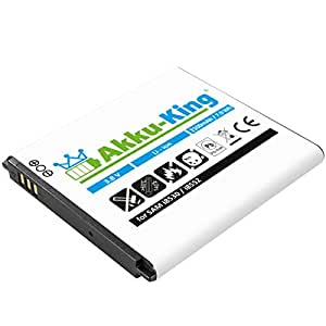 Akku-King 20112093 Lithium-Ion 2100mAh 3.8V batterie rechargeable - batteries rechargeables (2100 mAh, 7,99 Wh, Lithium-Ion (Li-Ion), 3,8 V, Noir, Blanc)