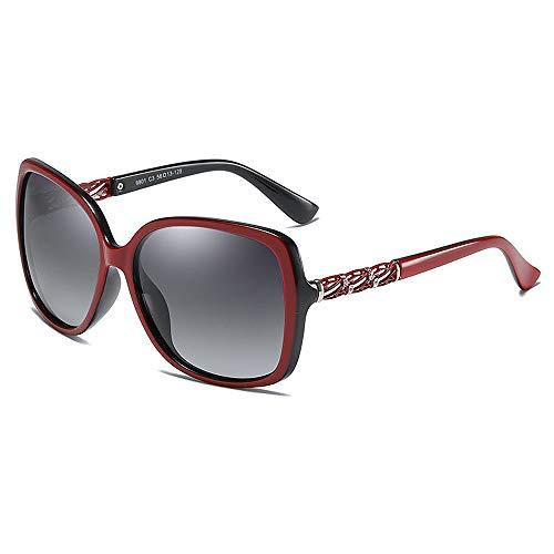 BlueAurora Damen polarisierte Sonnenbrille, Mode große Rahmenbrille für Frauen