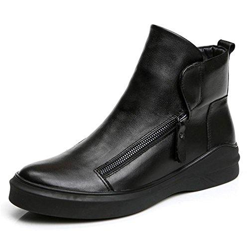 Automne hiver en cuir véritable Style britannique tendance Casual bottes personnalité hommes