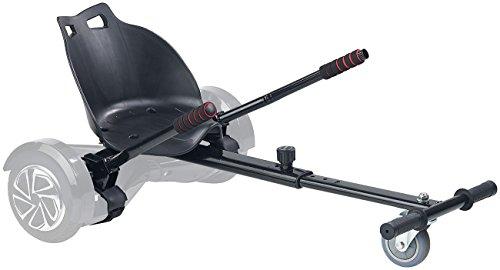 """Speeron Hoverboard Sitz: Nachrüst-Set Kart-Sitz für Elektro-Scooter bis 8\"""", belastbar bis 100kg (Hoverboard Aufsatz)"""
