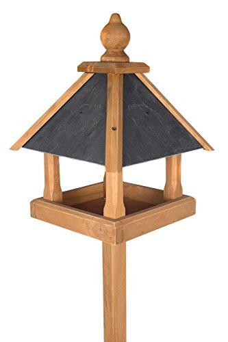 Edles Vogelhaus 3035 mit Ständer Massivholz