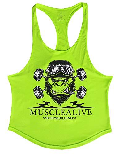 Zoom IMG-1 musclealive uomo bodybuilding canotta stringer