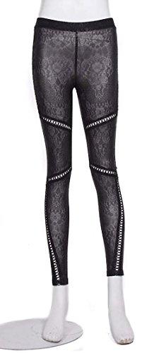 Leggings-colore-nero-elegante-stile-gotico-e-pizzo-con-apertura-a-RQBL-con-lacci