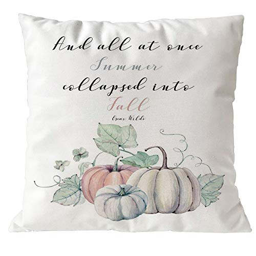 FeiliandaJJ ,Halloween Decorative Kissenbezug Wohnzimmer 45x45cm,Kissenhülle Happy Halloween Kürbisdruck Decorative Pillowcases Sofa Bed Home deko Pillows Cover Super weich Taille Wurf Kissenbezüge (F)