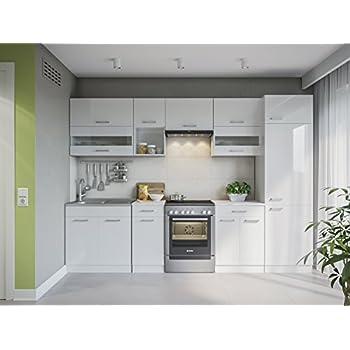 Eldorado möbel küche alina 300 weißlack küchenzeile küchenblock einbauküche komplettküche