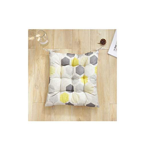 Kissen, Kissen im nordischen Stil mit geometrischem Muster, Home Floor Chair Ornament (schwarz, 40 × 40 × 4 cm, 16 Zoll) (Color : Yellow gray) -