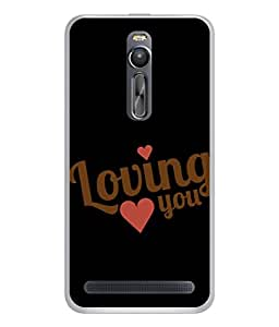 PrintVisa Designer Back Case Cover for Asus Zenfone 2 ZE551ML (Loving You In Black Design)