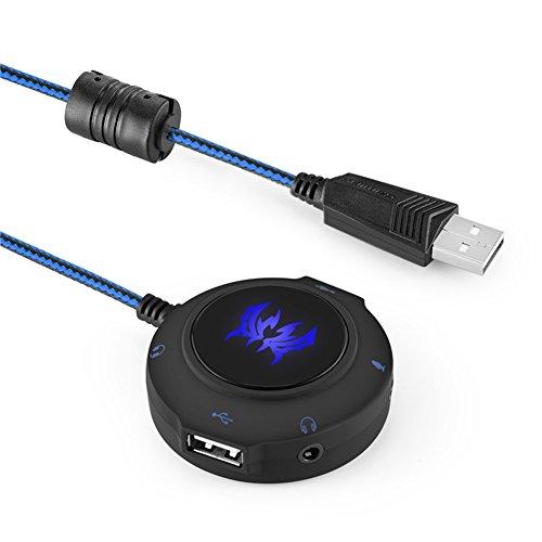 USB Externe Soundkarte Audio Adapter Kabel Stereo kotion je Adapter USB Stereo Sound Karte Hub für PC, Laptop, Tablet, Handy, PS4, PS4Slim, PS4Pro USB Sound Card Adapter
