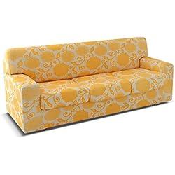 BIANCALUNA Genius 4D Copridivano 2 posti per divani da 140 a 180cm - Colori Fantasia Vision da comunicare