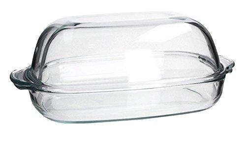 feuerfestes glas zum kochen SIMAX Hitzebeständiges feuerfestes Gefäß Küchengeshirr Auflaufform mit Deckel EXCELLENT drei Größen zur Auswahl NEU&OVP (8,6 L)
