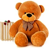 Zitto 3 Feet Huggable Teddy Bear with Neck Bow, Brown