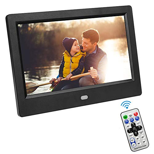 "VBESTLIFE Digitaler Fotorahmen,7""HD LED Bildschirm,Digital Bilderrahmen mit Wecker / MP3 / MP4 Movie Player für Zuhause/Büro.(EU)"