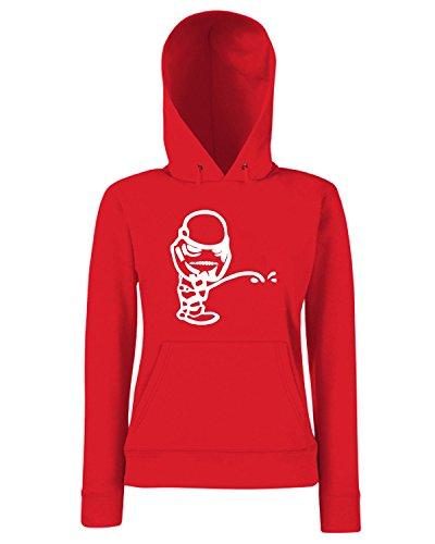 T-Shirtshock - Sweats a capuche Femme FUN0470 2859 diecut peeon stickers 3 92221 Rouge