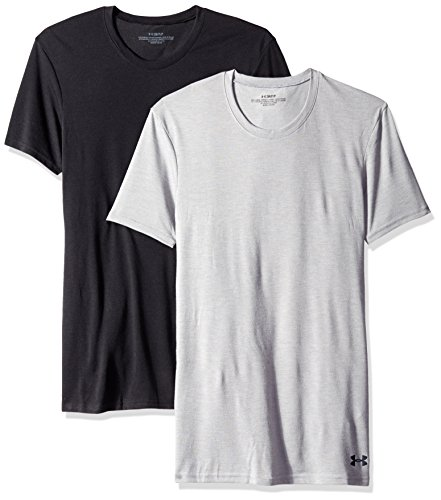 Under Armour Herren Core Crew Unterhemd – 2er Pack (Armour Under Kurzarm-unterhemd)