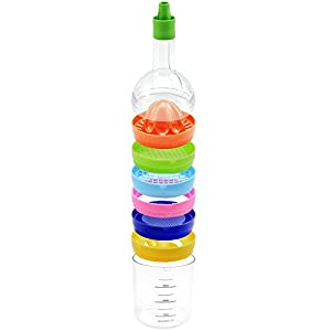 COM-FOUR® Küchenhelfer 8 in 1 in Flaschen-Form