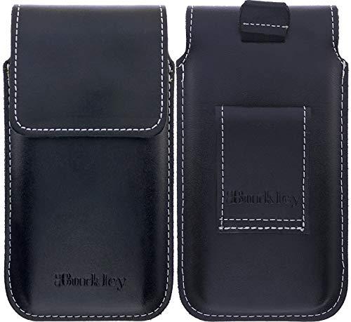 Burkley Slim Gürteltasche geeignet für Apple iPhone 6 / iPhone 6S Lederhülle - Handyhülle Case Cover passend für das iPhone 6 / 6S - Handmade (Vertikal/Schwarz) - Leder 6 Iphone Case Vertikal