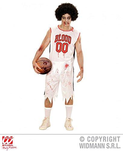 Zombie Kostüm Basketball - Widmann s.r.l. Herren-Kostüm Zombie Basketball Spieler, Größe:L