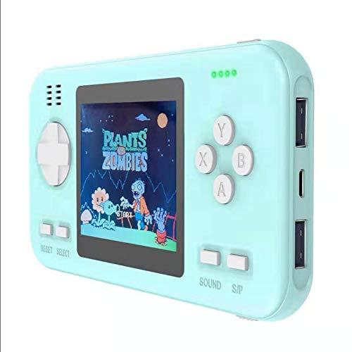 JIMITO Handheld-Spielekonsole, Retro-Mini-Game-Player mit 416 klassischen FC-Spielen, 2,8-Zoll-Farbdisplay-Unterstützung für den Anschluss eines Fernsehgeräts, 800-mAh-Akku für Zwei Spieler