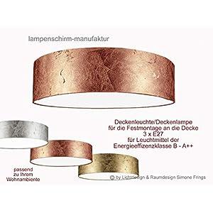 Deckenleuchte Lampenschirm Gold Silber Kupfer 50 cm