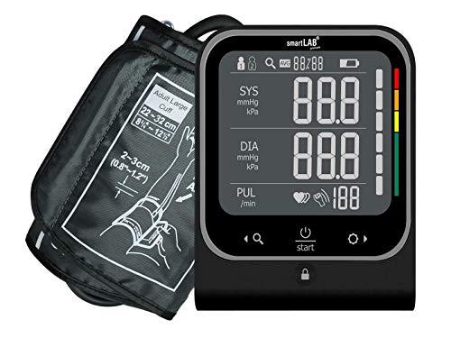 smartLAB pressure Oberarm Blutdruckmessgerät in Schwarz mit Erkennung von Herzrhythmusstörungen