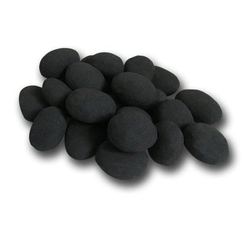 24piezas de cerámica piedras, negro chimenea de Gel Bioetanol quemador decoración planta...