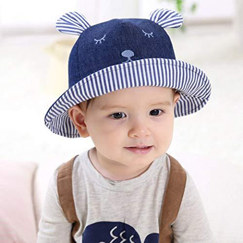 Weiblich Kostüm Mime - mlpnko Neue Cowboy Mimi Auge Becken Kappe Kinder Becken Kappe Baby Hut Cartoon Fischer Hut Chaobao Hut Deep Denim 50cm